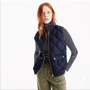 J. Crew Excursion quilted down best navy blue SM